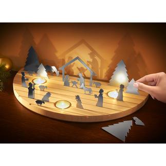 Weihnachtskrippe Silhouette Die klassisch schöne Weihnachtskrippe – außergewöhnlich als modernes Schattenspiel.