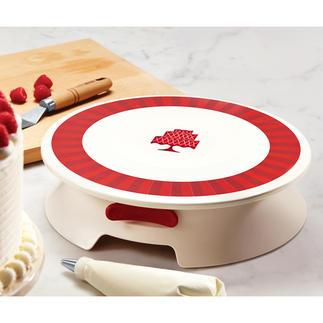 Drehbare Dekorier-Platte Torten und Kuchen kunstvoll verzieren – jetzt so einfach wie nie.