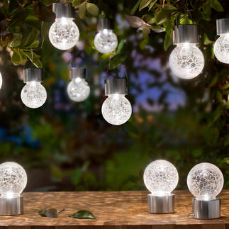 Crackle Balls Ohne Kabel, ohne Stromanschluss: edle LED-Lichtakzente für Terrasse, Garten, Party-Deko, …