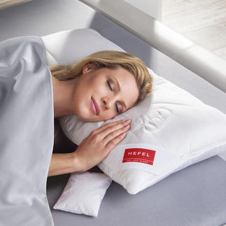 """HEFEL Modulkissen Wärmer oder kühler. Höher oder flacher. Für jeden Schlaftyp richtig. Das """"Baukasten-Kissen"""" aus 3 Modulen."""