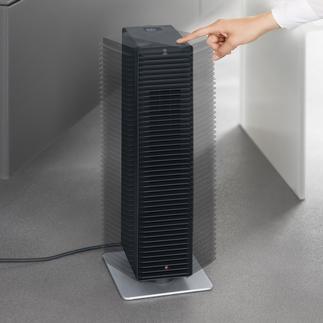 """Design-Heizlüfter """"Adaptive Heat™"""" Sparsamer (und schöner): der selbstregulierende Heizlüfter. Kraftvoll, leise, sicher. Spart ca. 12 % Strom."""