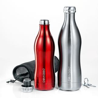 DoWaBo® Isolierflasche Endlich eine Isolierflasche auch für kohlensäurehaltige Getränke. Doppelwandiger Edelstahl in stylischem Design.