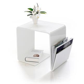 Acryl-Beistelltisch Schlicht, schick, hochglänzend. Couchtisch und Ablage. Hält zudem Laptop, Zeitungen und mehr.