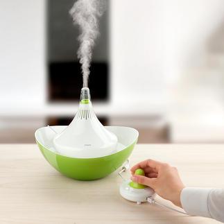 Filterloser Luftbefeuchter Miro Viel hygienischer: ohne Wassertank, ohne teure Filter. Komplett zerlegbar. Mühelos zu reinigen.