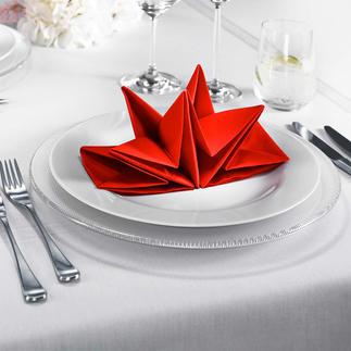 Origami-Servietten, 2 x 12 Kunstvoll gefaltete Servietten-Sterne – mit einem Handgriff aufgestellt.