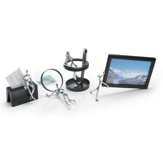 Schreibtisch-Accessoires Funktionell und originell. Spiegeln amüsant bekannte Büro-Situationen.