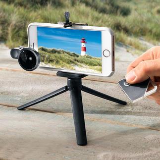 iShutter Travel Pack Selfie und Video verwackeln nicht mehr. Und die Weitwinkellinse liefert Panoramabilder zum Staunen.