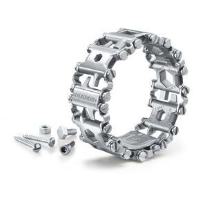 """Leatherman® Toolarmband Tread™ Der """"Werkzeugkoffer"""" an Ihrem Handgelenk. Praktisch, vielseitig, immer dabei. Aus speziell gehärtetem Edelstahl."""