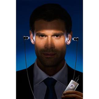 HumanCharger Light-Headset Klinisch getestet: die natürliche Kraft des Lichts – in einem fortschrittlichen Ohrhörer. Überall anwendbar. Auch bei Jetlag.
