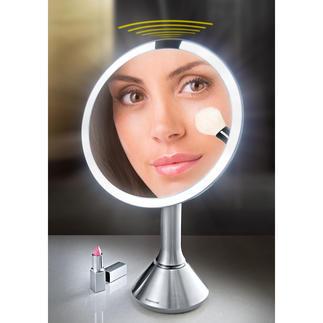 Sensor-LED-Spiegel Heller. Gleichmäßiger. Farbgenauer. Der LED-Vergrößerungsspiegel für ein optimales Schminkergebnis.