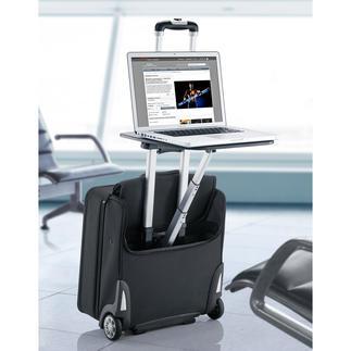 Business-Trolley Traveldesk™ In den USA entdeckt: Der Business-Trolley mit Arbeitstisch. Wartezeiten im Airport und andernorts nutzen Sie jetzt mit Komfort.