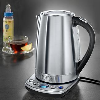 Caso Design-Wasserkocher mit Temperaturwahl Edelstahl-Wasserkocher mit präziser Temperaturwahl in 7 Stufen (statt oft nur 3-5).