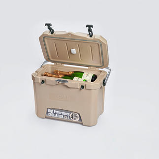 4-Tage-Kühlbox mit Temperatursensor 3 cm starke PU-Vollschaum-Isolierung hält die Kälte optimal. Selbst bei heißen 32 °C Außentemperatur.