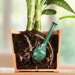 Plantwell Gießhilfe, 4er-Set Pflanzen-Bewässerung direkt an der Wurzel. Effizient. Tropffrei. Wasser sparend.