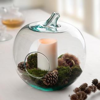 Deko-Glasapfel Servierschale, Aufbewahrung, Deko-Objekt, Windlicht, ... Imposanter Glas-Apfel. Trendiges Wohnaccessoire.