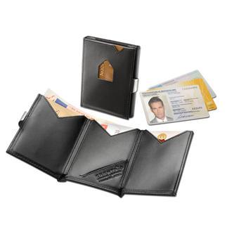 Exentri® RFID Smart Wallet Das Karten-Etui mit 2fach-Schnellzugriff. Ohne Öffnen, die beiden meist genutzten Karten direkt zur Hand.