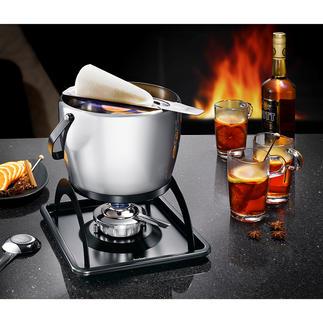 Spring Feuerzangenbowlen-Set Elegantes Edelstahl-Design, hervorragend in Qualität und Verarbeitung. Von Spring, den gastronomischen Profis aus der Schweiz.