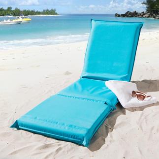 3-in-1 Relaxmatte Eine Liegematte mit 5fach verstellbarem Rückenteil und besonders variabler, geteilter Liegefläche.