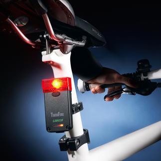 Fahrradrückleuchte mit Bremslicht Mehr Sicherheit für Radfahrer. Zugelassen für den Straßenverkehr.