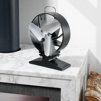 Kaminventilator Der geniale Kaminventilator: lenkt den Warmluftstrom horizontal und optimiert so die Wärmeverteilung im Raum. Ohne Strom, ohne Batterien.