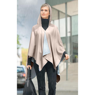 Pocket-Regenponcho So stylish kann Regenschutz sein. Ultraleichter Pocket-Poncho aus wasserabweisender Mikrofaser.