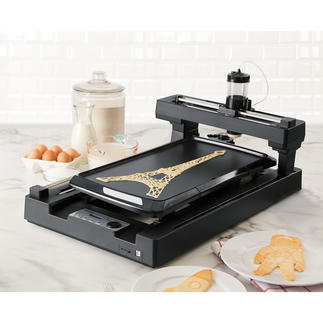 PancakeBot™ Sensationell: der erste Pfannkuchen-Drucker der Welt. Formt und backt Pfannkuchen in allen erdenklichen Gestalten.