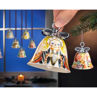 Alessi Weihnachtsglocken Läuten stilvoll die Festtage ein: Alessis Weihnachtsglocken aus feinstem Porzellan.
