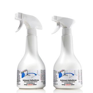 Spray'n go Schimmelentferner, 2er-Set Der bessere Schimmelvernichter: haftet selbst an senkrechten Flächen – statt uneffektiv abzulaufen.
