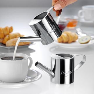 Giardino Milch- und Zucker-Gießkanne, 2er-Set Die besseren Milch- und Zuckerspender: dosieren präziser, mit einem Guss.