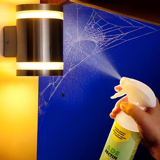AdeSectin Spinnen-Langzeitschutz Die farb- und geruchlose Flüssigkeit bildet einen unsichtbaren Film, der Spinnen bis zu 3 Monate fern hält.