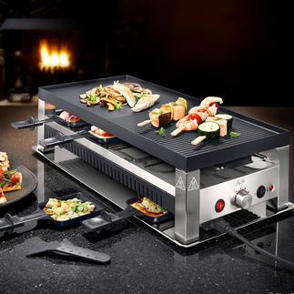 Solis 5-in-1-Raclettegrill Fun-Cooking für jeden Geschmack: Raclette, Tischgrill, Mini-Wok, Pizza- und Crêpes-Bäcker in einem.