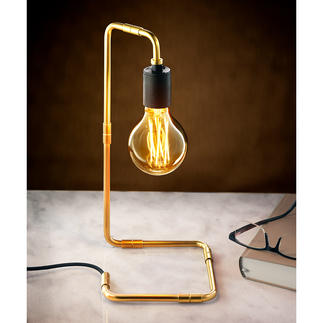 Industrial-Design-Tischleuchte Endlich eine konsequente Leuchte – bei der alles zum Design gehört. Kein Kabel stört den puristischen Look.