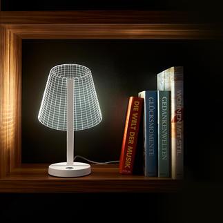 3D-Leuchte Eine flache Acrylscheibe simuliert durch 36 Mini-LEDs die dreidimensionale Wirkung.