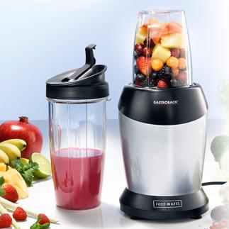 Gastroback Smoothie-Blender Starke 1.000 W extrahieren Obst und Gemüse und holen alle gesunden Nährstoffe heraus.