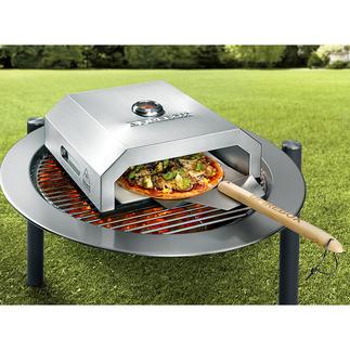 Pizzaofen Firebox Der Pizzaofen für Ihren Grill: backt original Steinofenpizza wie beim Italiener. Ohne Aufwand. In Minuten.