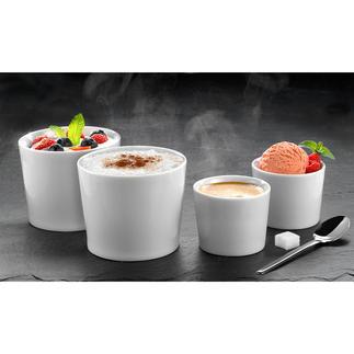 """Isolier-Becher """"Version One"""", 2er-Set Doppelwandiges Porzellan hält Ihre Getränke und Speisen länger heiß oder kalt."""