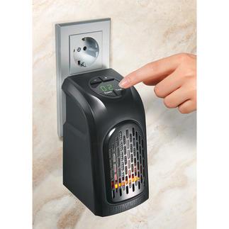 Mini-Steckdosenheizung Mobil einsetzbar im Bad, Büro, Hobbykeller, Gartenhaus, Wohnmobil, ...