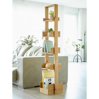 """wireworks Design-Regal """"Bookie"""" Auf kleinster Stellfläche (ca. 0,1 qm) über 1,50 laufende Meter Bücher präsentiert."""