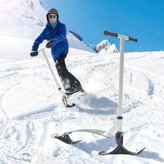 Stiga® Snow Kick Flex Pistenspaß für Jedermann. Einfach wie Rollerfahren. Stabiler Schnee-Scooter mit flexibler Stahl-Standplatte.