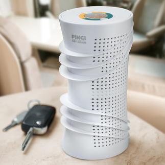 Kabellose Luft-Entfeuchter Bewahrt Kleidung, Schuhe, Sportausrüstung, ... vor Feuchtigkeit und Schimmel. Ohne Stromanschluss.