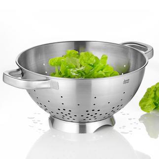 Edelstahl-Seiher Jamie Oliver Der bessere Seiher: Standfuß mit Seitenöffnung für schnelleren Ablauf.