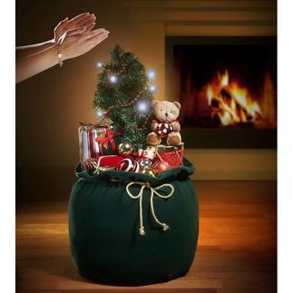 Weihnachtssack Reich dekoriert. Beschert die schönsten Weihnachtsmelodien. Faszinierende Überraschung für Groß und Klein.