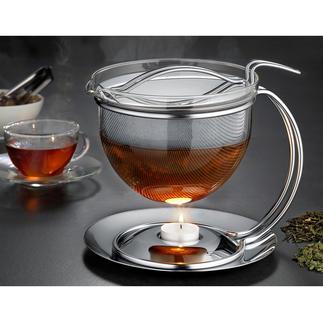 """1,5 l """"Filio"""" Teekanne mit Stövchen Die schönere Teekanne ist auch die bessere. Mit extragroßem Siebeinsatz für maximale Aroma-Entfaltung und Stövchen."""
