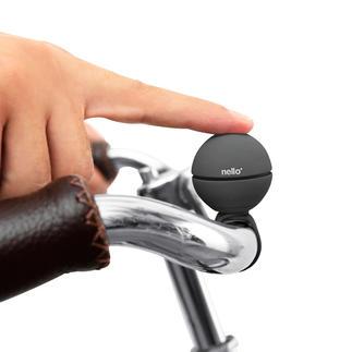 Fahrrad-Klingelball Klingel, Trillerpfeife oder Hupe. Preisgekrönt und diebstahlsicher. Passt an jede Lenkstange.