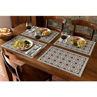 Maurische Tischsets oder Tischläufer Der neue Wohntrend. Jetzt auch für Ihren schön gedeckten Tisch. Für drinnen und draußen.