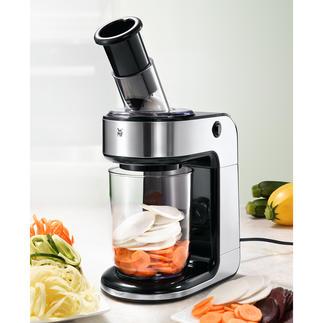WMF KULT Pro Spiralschneider Knackige Gemüse-Nudeln, Raspeln, Scheiben, ... – jetzt elektrisch leicht und schnell.