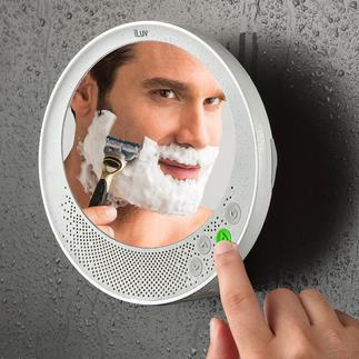 Antifog-Bluetooth-Spiegel Musik hören, telefonieren, rasieren – mit Ihrem neuen Antifog-Spiegel.