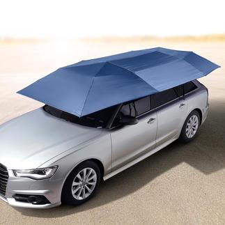 Portabler Auto-Sonnenschirm Schützt vor UV-Strahlung und Hitze. Hält Regen, Staub, Vogelkot, Baumharz, ... ab. Öffnet und schließt automatisch.