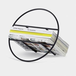 Design-Zeitungs/Plattenständer Minimalistisches Design macht Ihre Magazine, LPs zum edlen Hingucker.