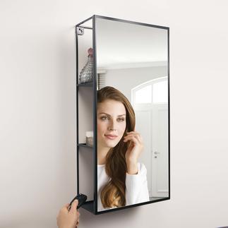Spiegelregal Cubiko Raffiniert integriert: der Spiegel mit viel verborgenem Stauraum.